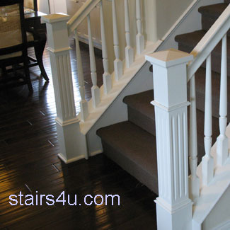 Carpet Stairs Meet Wood Floor