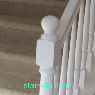 Newel Post With Round Ball On Top