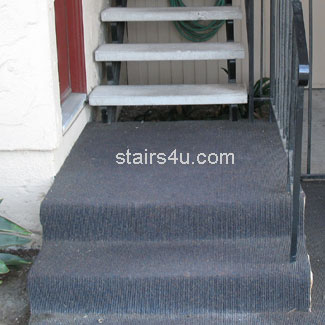 Outdoor Carpet On Concrete Stair