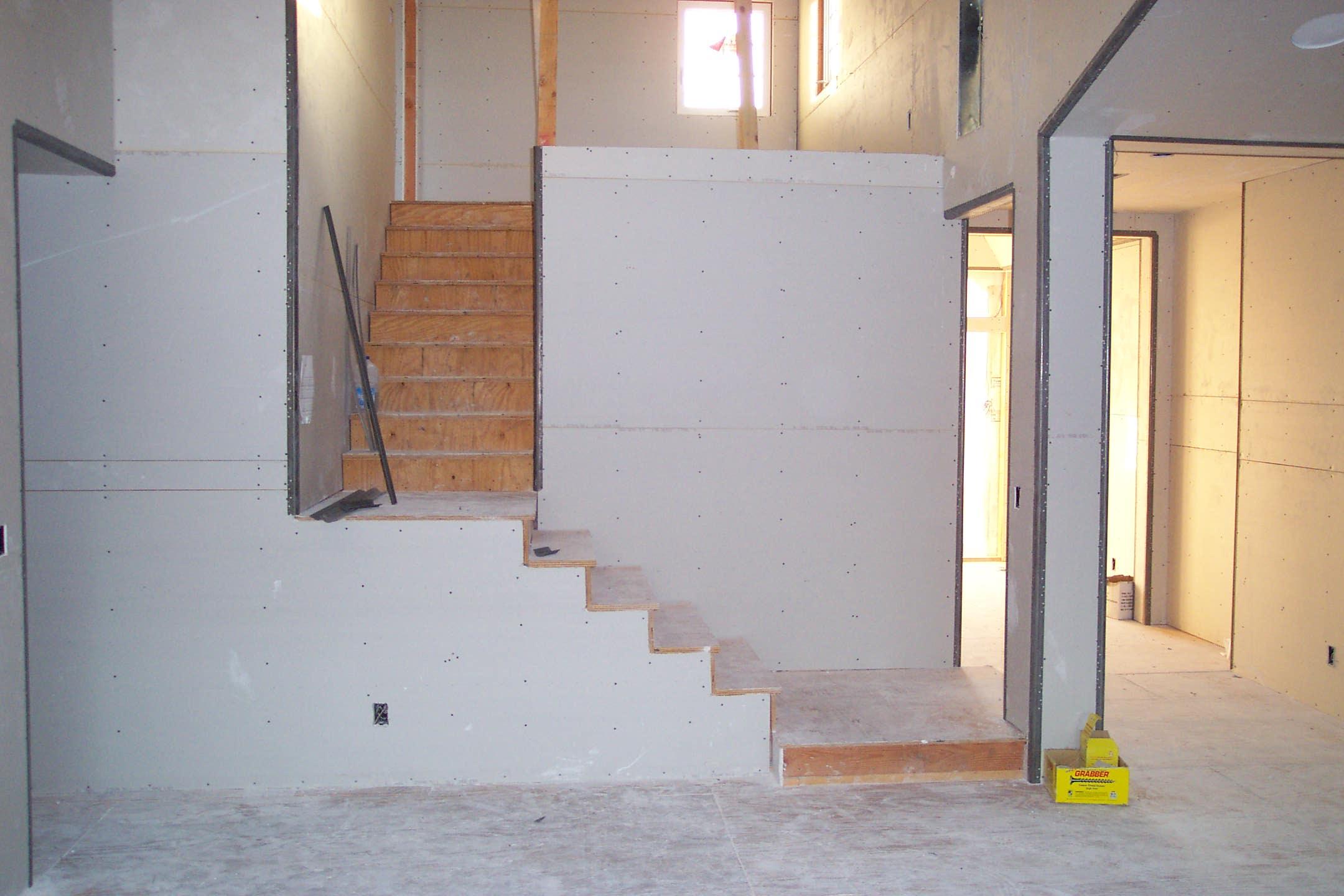 Drywalling Stairs