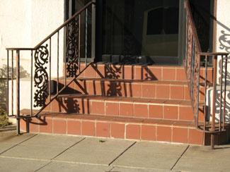 Spanish Tile Stair Entryway