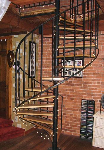 Spiral staircase lighting lighting ideas for Circular stairway