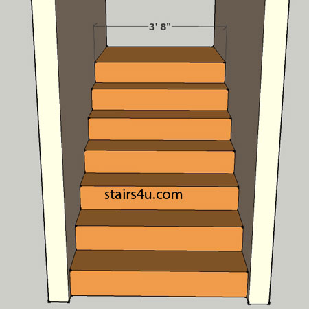 Clear Stairway Width With Walls