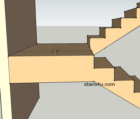 Stair Landing Minimum Widths