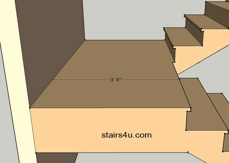 How To Measure Stair Landing With Nosing For Building Code