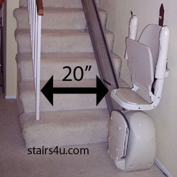 Minimum Stair Lift Passage For Stairway Most Building Codes