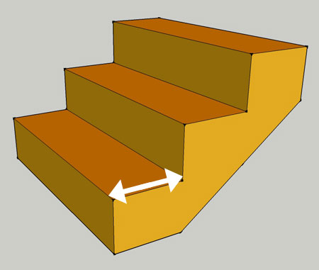 international building code for stair step without nosing