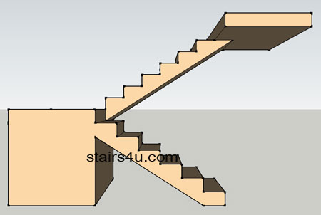 U Stairs Open Under No Wall