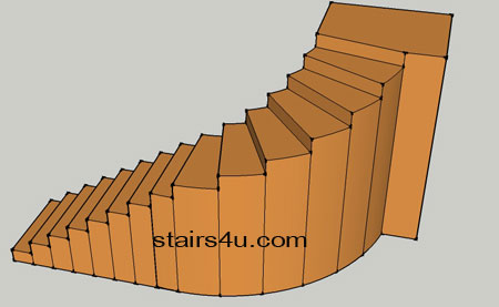 Strait Stairs With Curved Top Design
