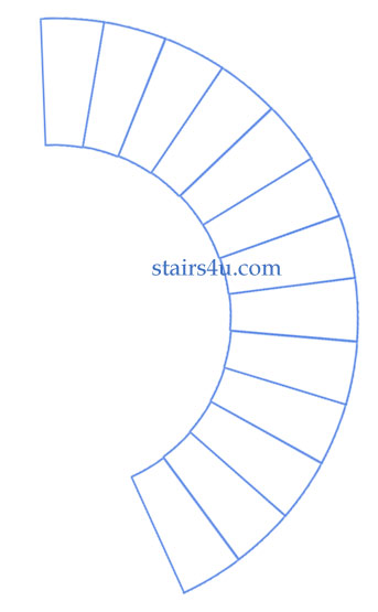 Circular type stairs design curved stairway Curved staircase design plans