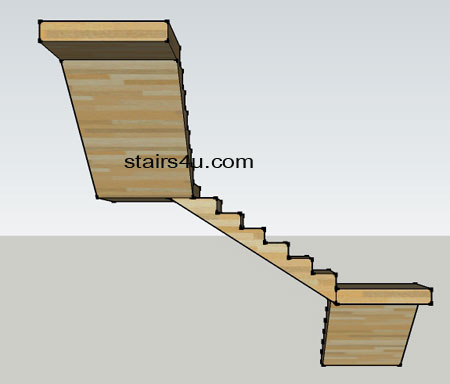 Z Type Stairs Design Double L