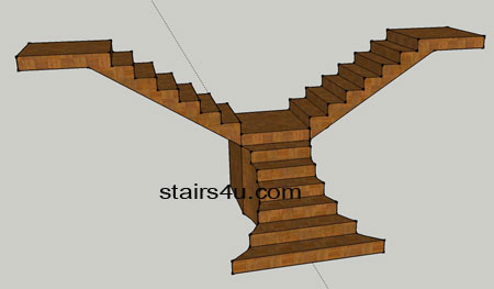 Y Stairs With Flared Bottom