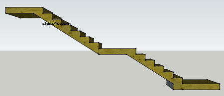 Bottom And Middle Landing Stairs Design