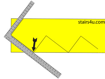 How To Layout Top of Stair Stringer