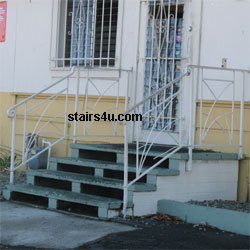 Concrete Block Stairs   Home Building