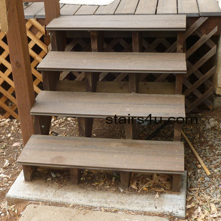 Awesome Exterior Stairs With Engineered Decking Materials For Treads