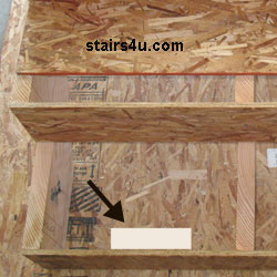 The Picture Above Shows A Block Of Wood, Behind A Stairway Riser. This Block  Of Wood Can Be Glued, Screwed Or Nailed To The Back Of The Stair Riser To  ...