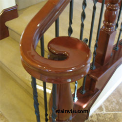 Volute Stair Handrail Banister Parts