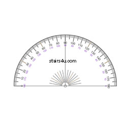Protractor Stair Layout And Construction Math