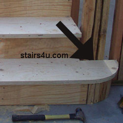 The Picture Below Provides You With An Excellent Example Of A Quarter Round Tread That S Located At Bottom Stairway Still Under Construction