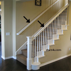 Rake Rail Gripable Stair Handrailing