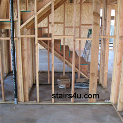 Supporting Wall Framing Stairs