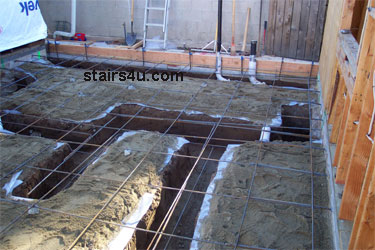 Landing Footing Concrete Building Foundation