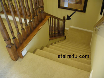 Landing Newel Stair Handrailing Construction