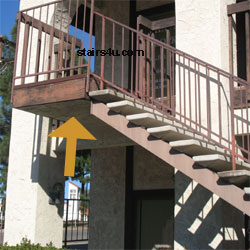 Cantilevered Stairway