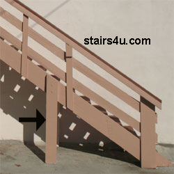 Strut Structural Stair Support Post