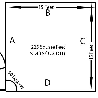 How to calculate rise run ehow home design idea for Find sq footage
