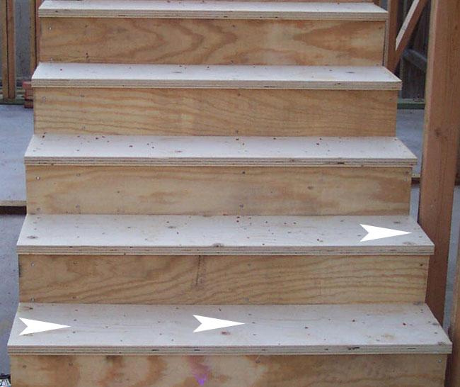 Stair Tread Nailing