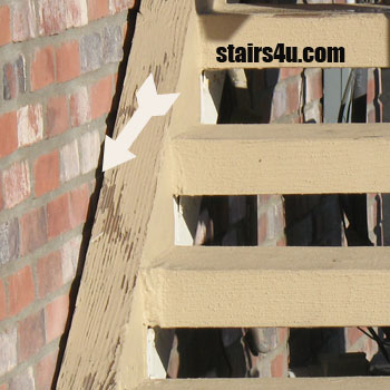 Can I Attach Stair Stringers To Brick Or Block Walls