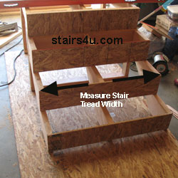 The First Thing We Need To Do Is Measure The Width Of The Stairway In The  Depths Of The Stair Tread. For Our Example, The Width Of The Stairway Is  Going ...